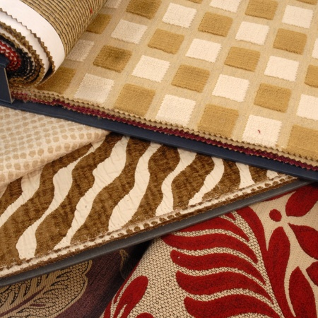 fabric swatches for interior decoration