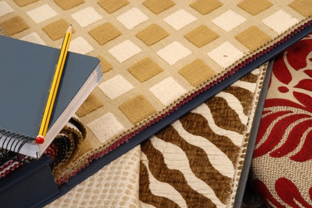 samples of fabrics for home textile decoration Stock Photo - 9213774