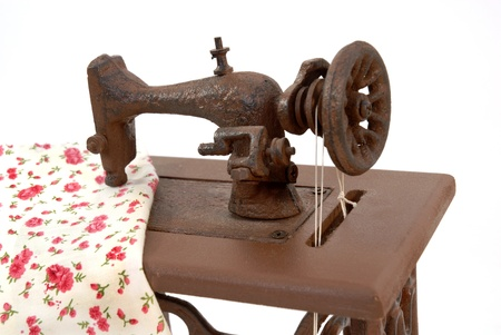 old sewing machine isolated on white background Stock Photo - 9213766