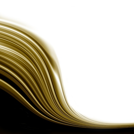 white background with black and gold wave Stock Photo - 9212469