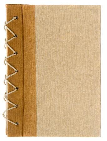 journal intime: rustique de couverture de livre papier isol� sur fond blanc recycl�  Banque d'images