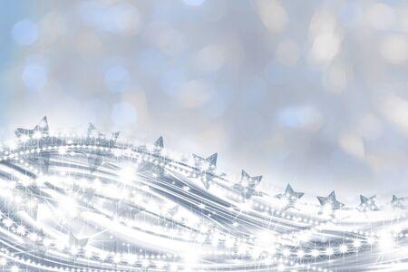 Stelle elegante sfondo della cartolina di auguri di Natale  Archivio Fotografico - 9965980