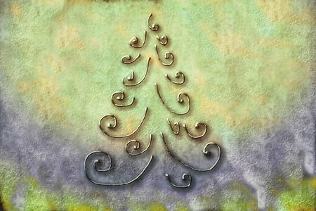 abstract Christmas tree greeting card background rustic photo
