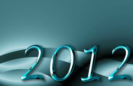 metal background blue christmas 2012 with copyspace Stock Photo - 10682877
