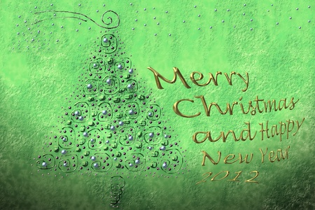 background and text fir Christmas greeting in gold photo