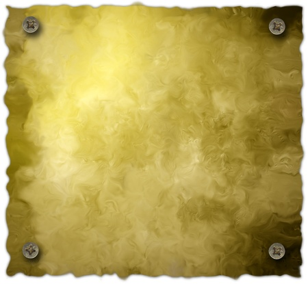 bolted: bolted parchment background isolated on white background Stock Photo