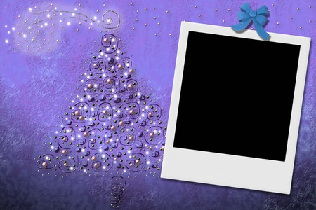 Christmas tree greeting card frames for photo photo