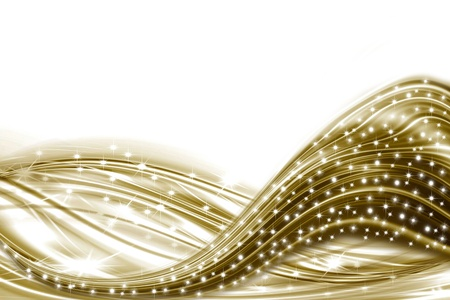 ondulation: carte blanche avec des �toiles et l'ondulation d'or