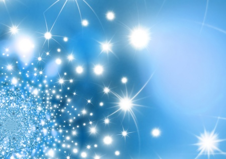 gala: abstract blue background with stars Stock Photo