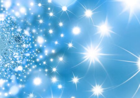 Christmas abstract background blue with stars photo