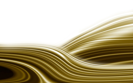 undulation: gift golden waves on a white background Stock Photo