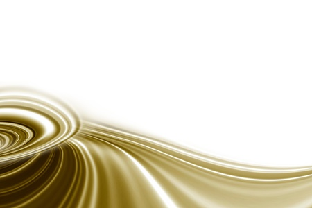 ondulation: vagues d'or sur un fond blanc Banque d'images