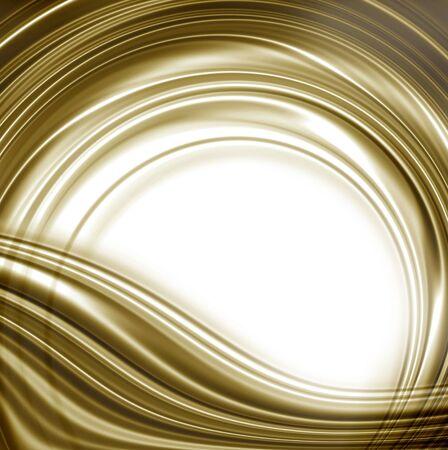 white circular rim and golden undulation photo
