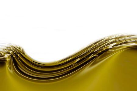 undulation liquid gold on white background