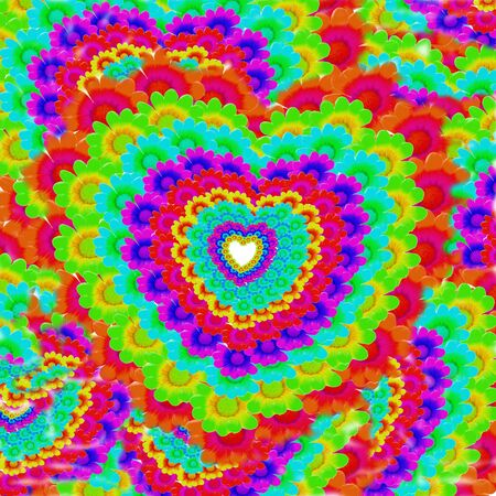 background bright colors of hearts photo