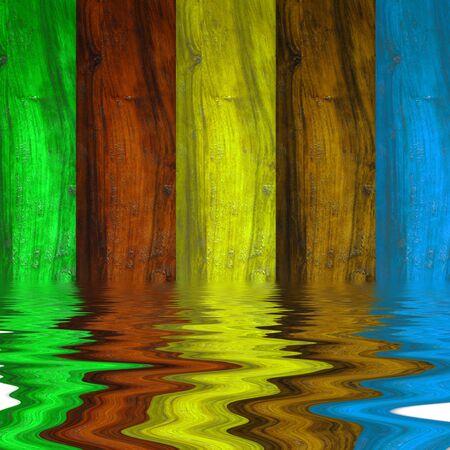 slats: slats wall background colors and reflection liquid