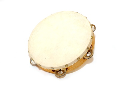 tambourine on white background 免版税图像 - 11999575
