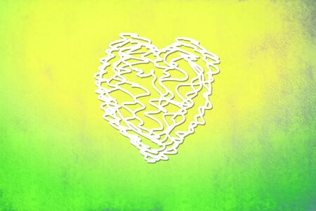 scribble heart background of bright colors for Valentine photo