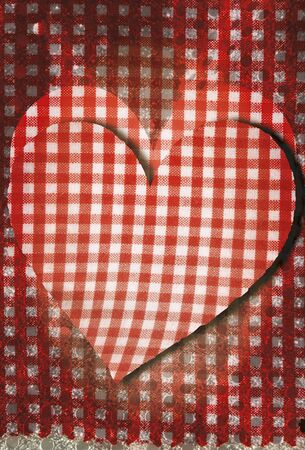 Fabric vertical background grunge heart photo
