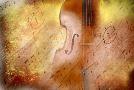 grunge background music, bass and musical notes Stock Photo