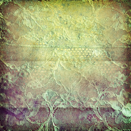 grunge old embroidery on old paper photo