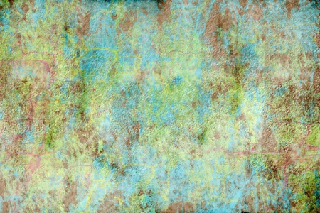 A rough, textured green and blue grunge background  with copy space photo