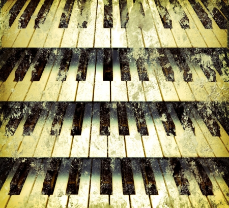 grunge background piano keys vintage style photo