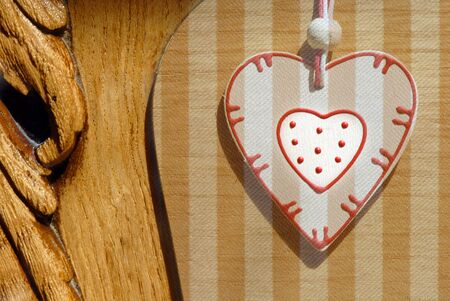 background country style wooden heart photo