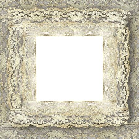 vintage lace frame with copy space photo