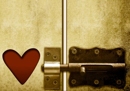 lockable door and heart, valentines day photo