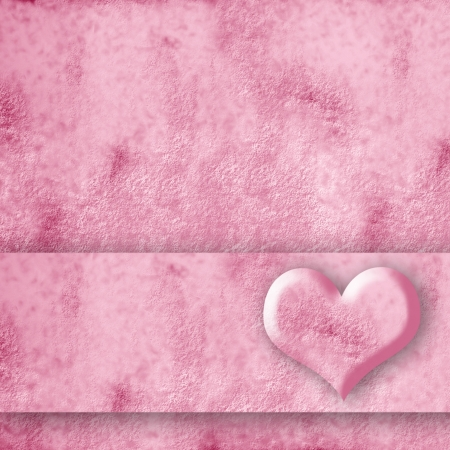 pink square card with a heart Stock Photo