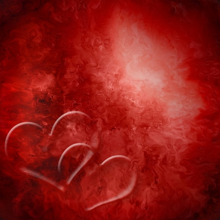 background two red hearts together passion 免版税图像
