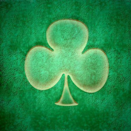 grunge green background, three leaf clover transparent photo