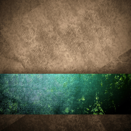 side bar: abstract brown background with vintage grunge background texture brown paper wallpaper for brochure or website background, grunge green ribbon side bar banner for web template