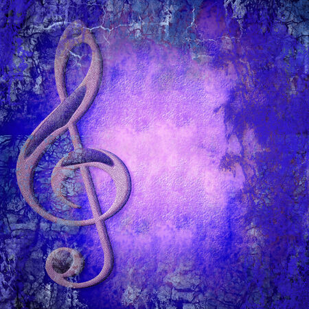 treble clef musical colorful background with copy space for text