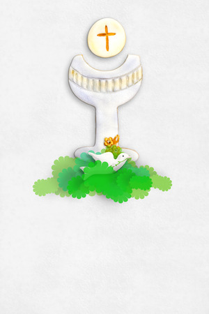 premi�re communion: Premi�re Communion ou de la carte d'invitation confirmation