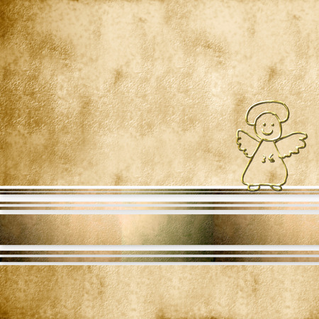 background first communion Angel  on sepia background and copy space for text photo