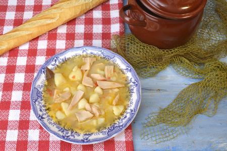 cantabrian: Marmite or marmitako, traditional dish Cantabrian coast  stewe potatoes and  albacore