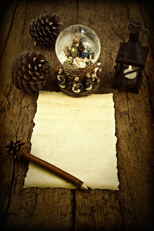 wisemen: Letter blank parchment to write Magi or compliment the Christmas