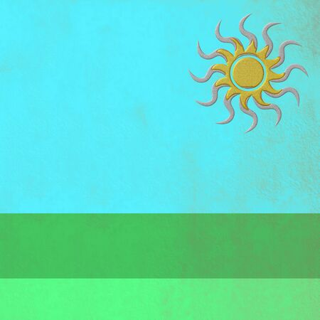 empty space for text: Field in summer, abstract background with empty space for text
