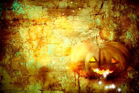 grungy: Grungy halloween pumpkin background
