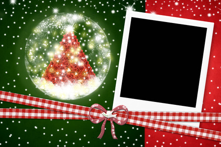 photo album cover: Christmas card, photo instant frame Christmas tree