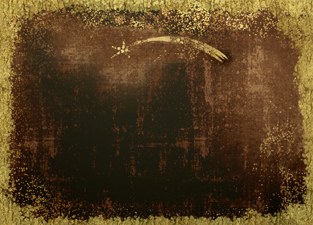 Christmas Nativity greetings cards, Star of Bethlehem and gold texture on blank grunge background