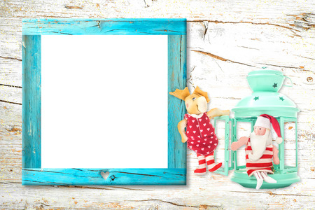 Christmas empty photo frame card.