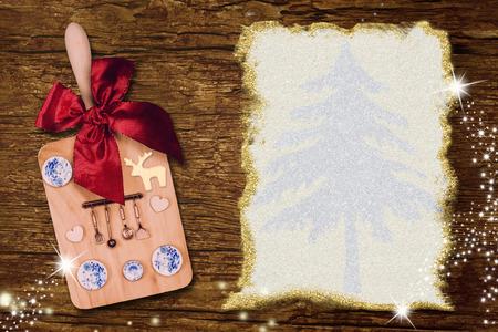 Menu Christmas vintage card. Stok Fotoğraf