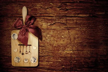 Menu dinner celebrations rustic card. Stok Fotoğraf