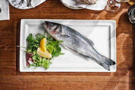 raw: Raw fish-plate