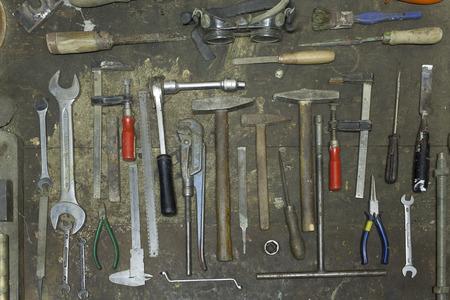 Hand tools in workshop