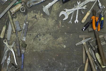 Hand tools in frame Stock fotó