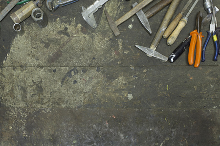 Hand tools in frame
